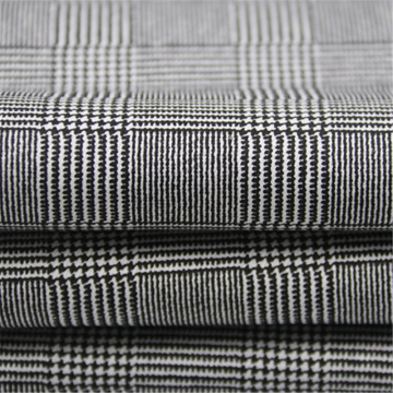 Plaid Printed With Cotton Polyester Twill Stretch Fabric