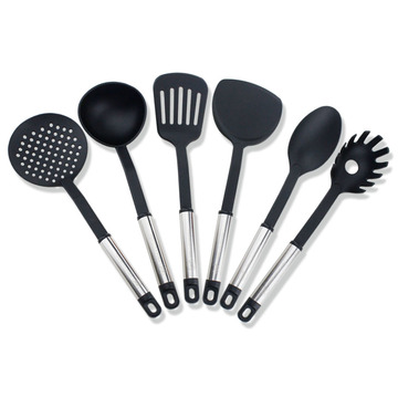 6 piece kitchenware tools nylon cooking utensils set