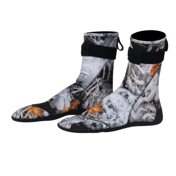 Seaskin 3mm Neoprene Camo Scuba Dive Socks
