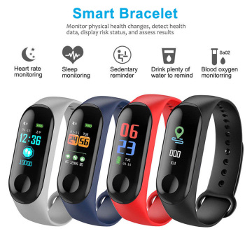 M3 Smart Tracker Band Wristband Blood Pressure/Heart Rate Monitor/Pedometer Sports Health Fitness Bracelet For Android IOS