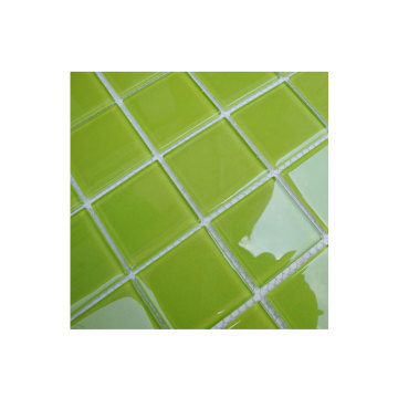Green porcelain mosaic pool tiles