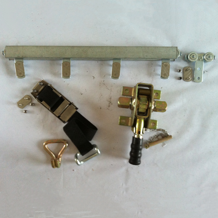 Curtainsider Van Body Parts Hardware with Rail Track,Strap Buckle,Roller Ratchet Buckle and so on
