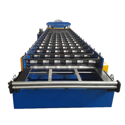Galvanized Aluminum Trapezoidal Roof Roll Forming Machine