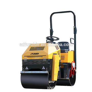 Mini soil compactor with vibratory smooth roller drum