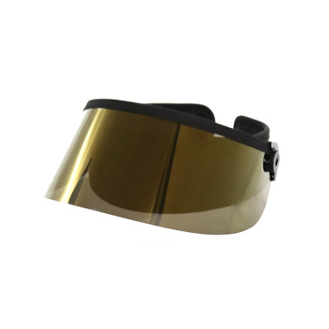 New K gold sun visor shield hat