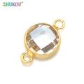 1pcs 13*21mm Charms Women Necklace Pendants Cubic Zirconia Round Connectors DIY Jewelry Findings Accessories, Model: VS284C