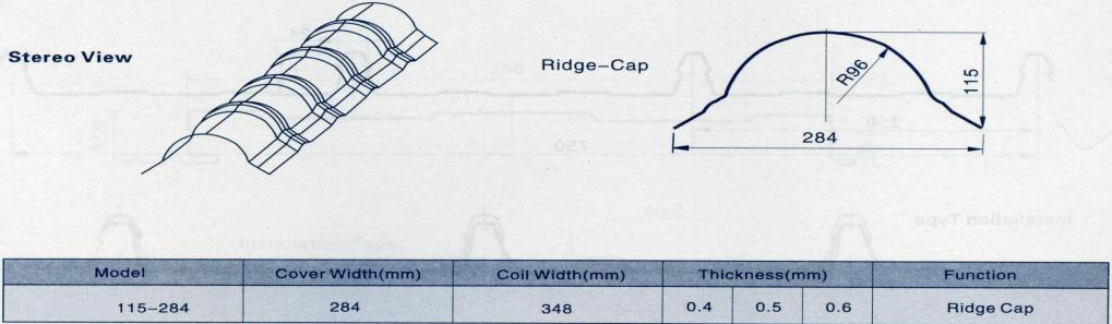 ridge-cap-machine