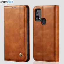 Luxury Retro Slim Leather Flip Cover For Samsung Galaxy M31 Case Wallet Card Stand Magnetic Book Cover For Samsung M31 Cases