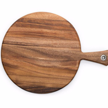 Acacia Wood Provencale Pizza Paddle Round