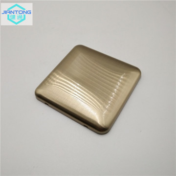 color painted stainless steel brushed switch panel plate