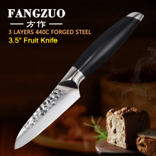 """FANGZUO 440C Stainless Steel 3.5 Inch Paring Kitchen Knife Cooking Kitchen Tools Lasting Sharp with Excellent 3.5"""" Fruit Knife"""