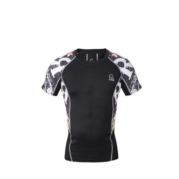 Dry Fit Mens Custom Fitness super hero compression shirt