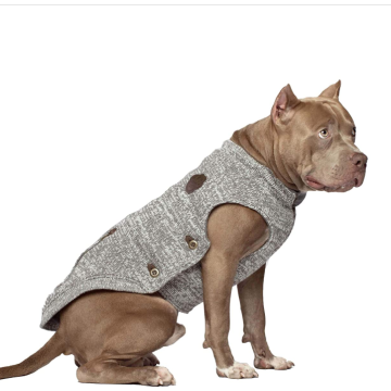 Knit Fleece-Lined Dog Sweater