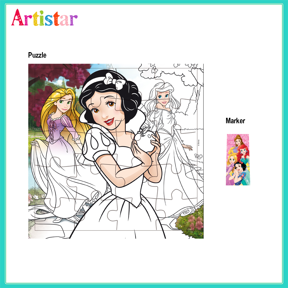 Disney Princess Opp Bag Packing Colouring Puzzle With Marker 2