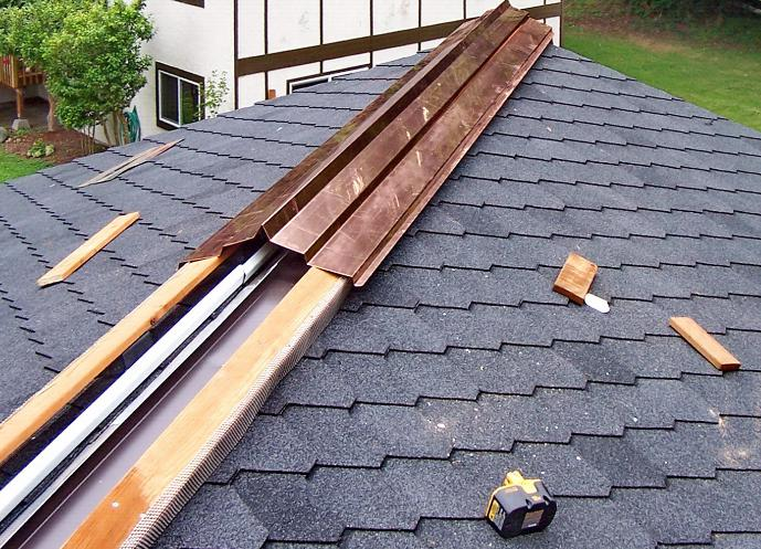application of Ridge cap