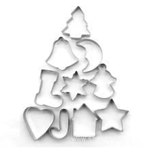 10 pcs Christmas Stainless steel Cookie cutter set