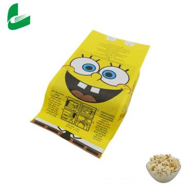 Custom kraft paper bags for microwave popcorn packaging