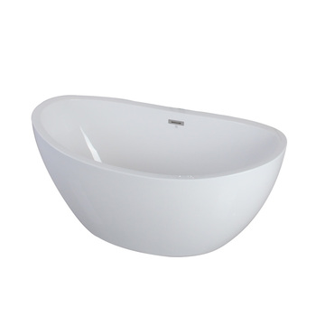 White Acrylic Vessel Big Bath