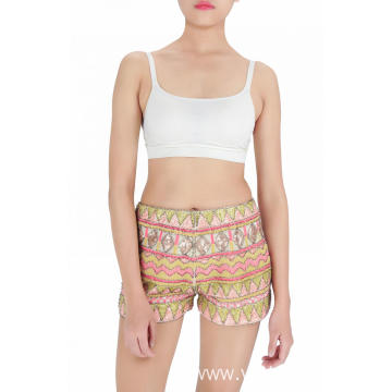 summer embroidered sequin shorts