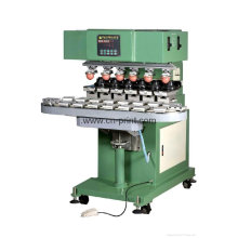 6 color sealed cup pad printing machine