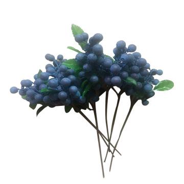 1 Bundle Artificial Blueberry Plant Flower Bud Fake Plants Decorative Wreath Berry For Wedding Home Party Decoration