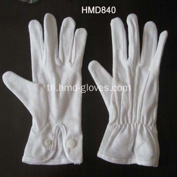 Sure Grip Cotton Gloves with Snap Closure