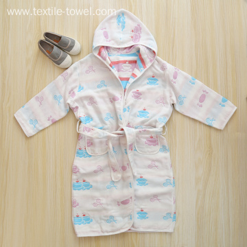 Cotton Bathrobe Children's Bathrobes Robes For Kids