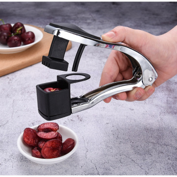 1PC Stainless Steel Cherry Pitter Easy Red Dates Olives Seed Corer Pitter Remover Squeeze Stone Picker Kitchen Gadgets QA 090