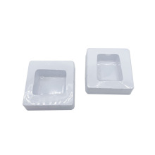 Thermoform stackable molded plastic tray inserts