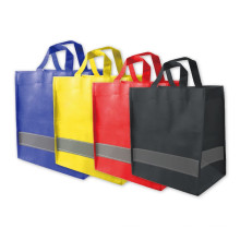 Highly Visible Non-Woven Reflective Strip Shopping Bag