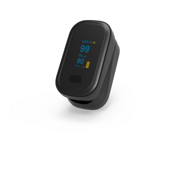 black with PI Portable fingertip pulse oximeter pulse