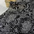 Shinny Sequin Embroidery On Poly Mesh Fabric