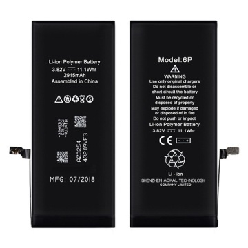 Hoge kapasiteit iPhone 6Plus 3410mAh 0 Cycle Battery