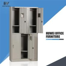 Steel 6 door staff cabinet storage locker