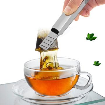 Freeship Stainless Steel Tea Bag Clip Anti-scalding Tea Set Accessories Stainless Steel Tea Bag Tong Squeezer Tea Set Food Clip