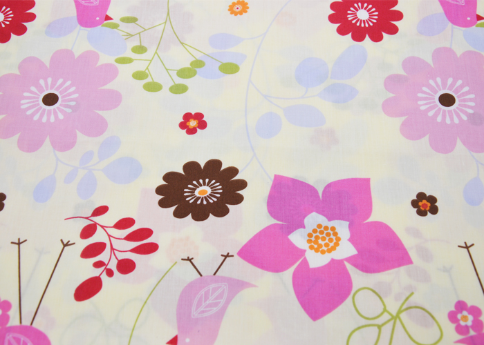 80 Polyester 20 Cotton Printed Fabric