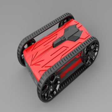 Red wifi AR racing battle tank