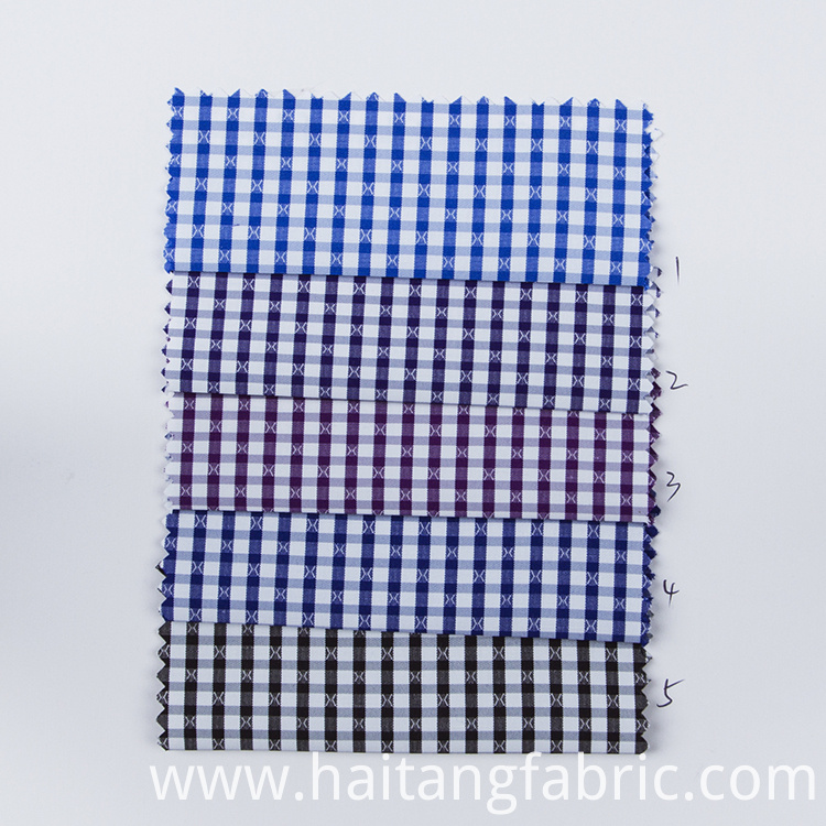 Check Polyester Fabric Check Bamboo Fabric