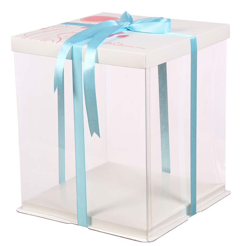 Plastic cake box packaging