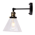 Indoor glass Inverted funnel shape vintage wall lamp
