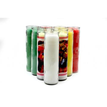 7 days glass jar church candles