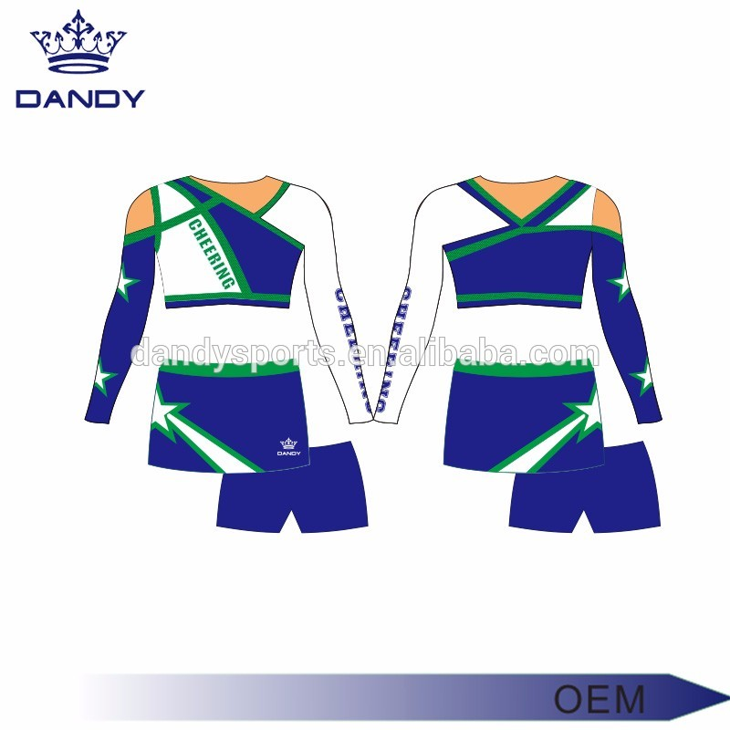 Asymmetrical Neckline Cheerleading Uniform