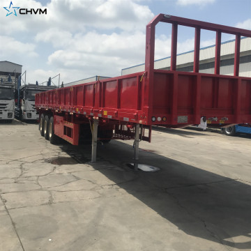 CHVM van semi trailer extendable lowbed semi trailer