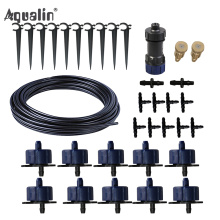 New Arrival 10m 4/7 Hose Automatic Drip Irrigation System Garden Drippers Watering Kits with Pressure Reducing Valve#26301-6