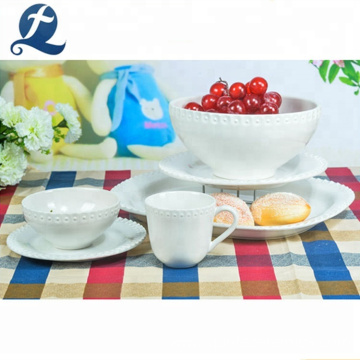 Hot selling tableware ceramic white restaurant dinnerware set