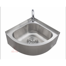 Stainless steel triangular kitchen sink