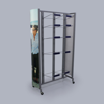 Large Metal Retail Slipper Display Stand With Cardboard