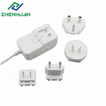 10Volt 1A Replaceable Plug AC DC Adapter 10W