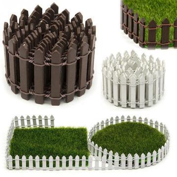 100*5cm/100*3cm Miniature Small Wood Fence DIY Fairy Garden Micro Dollhouse Plant Pot Decor Bonsai Ornament drop shipping