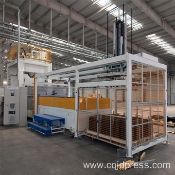 Automobile interior parts press